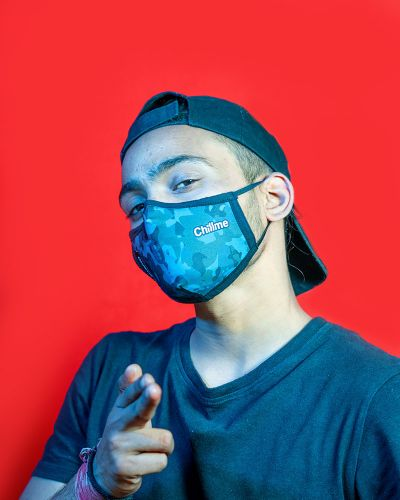 Everyday Mask Blue Camouflage
