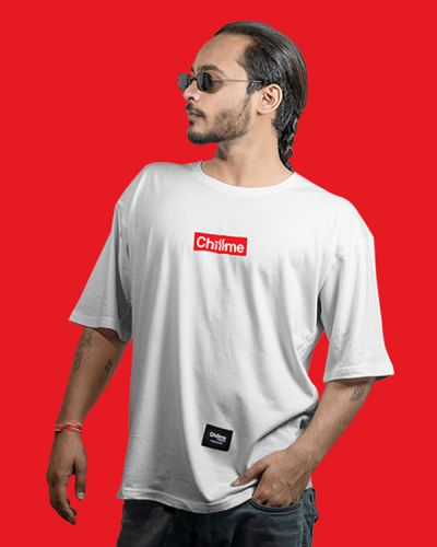Hip Hop T-shirts Hype Is Now Loose Fit Hip Hop Tee White