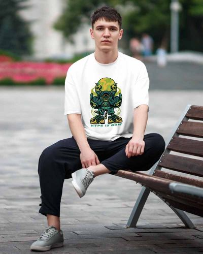 Hip Hop T-shirts Hype Is Now Oversized Hip Hop Tee White