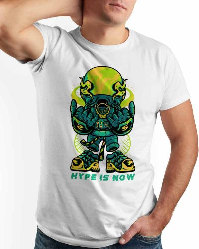 Hype Is Now Regular Fit T-shirt White
